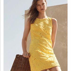 Banana Republic Yellow Lead Dress Petite NWOT